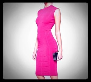 NWOT Ted Baker Hot Pink Bodycon Dress